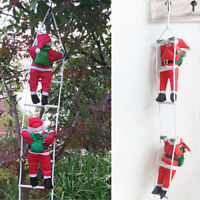 1M CLIMBING SANTA WITH ROPE LADDER INDOOR/ OUTDOOR CHRISTMAS DECORATION