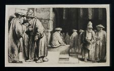 REMBRANDT  Amand Durand red stamp 1880  'JEWS IN SYNAGOGUE'  B 126  COA