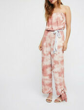 NWT Free People Hot Tropics Printed Jumpsuit  Neutral Size 12