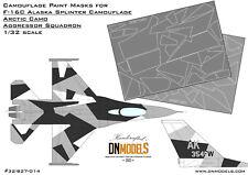F-16 Arctic Splinter Aggressor Camouflage 1/32 Camo Paint Masks F-16C DN Models