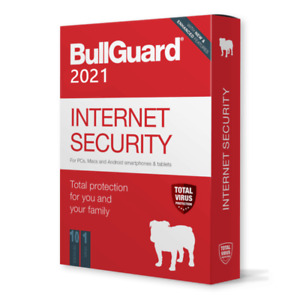 BullGuard - Internet Security - 1 Year 10 Devices - 2021 LICENSE KEY - WORLDWIDE