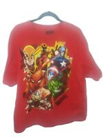 Marvel SUPERHEROES T-Shirt Tee Men's Size 2 XL Mad Engine Avengers Wolverine Red