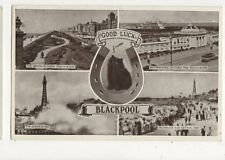 Good Luck From Blackpool 1949 Postcard 432a