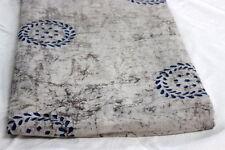 Natural 100% Cotton Indian Hand Block Print Fabric 1 Yard Indigo Stripe Print **