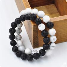 2 Pcs Couple Tibétaine Bracelet Perle Prière Agate Bouddhiste Chapelet Cadeau NF