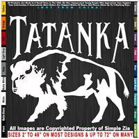 - Native American Tatanka Bison Buffalo facing Left Sticker Decal