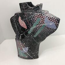 Memphis Style Post Modern Vase Starship Studio Rosalyn Tyge Pottery Abstract Art
