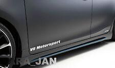 V6 MOTORSPORT Vinyl Decal door sticker Racing Sport  WHITE