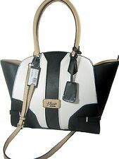 Guess Belvedere Satchel Tote Shoulder Hand Bag Purse Black Multiple New NWT
