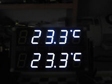 """60 Stk.7 Segment LED super weiß 0.8"""" inch 20,4 mm gem. Anode(+) RAR NEU white"""