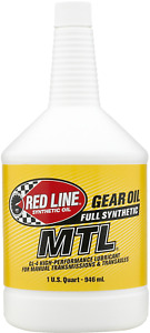 Red Line MTL 75W80 Manual Transmission/Gearbox Oil Fully Sythentic 946ml