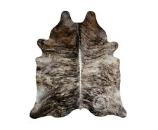 New Brazilian Cowhide Rug Leather BRINDLE EXOTIC 6'x8' Cow Hide Rug Cow Leather