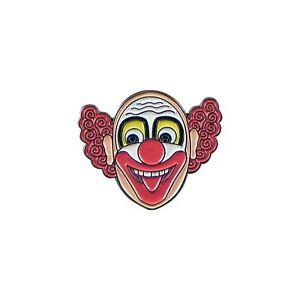 Effrayant Clown Émail Broche Badge / Cirque Cadeau Neuf avec Étiquette /