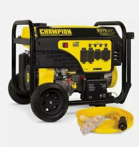 New! CHAMPION POWER EQUIPMENT Portable Generator 9375/7500-Watt Electric Start