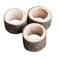 #QZO Rustic Wooden Napkin Ring Wedding Party Napkin Holder Table Decoration Gift
