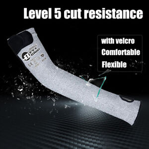 """1 Pair Cut Resistant Sleeves with Thumb Hole 18"""" Arm Protection Bite Proof"""