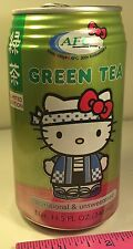 HELLO KITTY AFC 30TH ANNIVERSARY GREEN TEA EMPTY CAN FEATURES HELLO KITTY IN BOW
