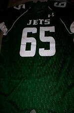 NEW!  UNDER ARMOUR  MENS FOOTBALL JERSEY SHIRT NY JETS #65-GREEN-LARGE