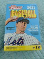 2021 MLB Topps Heritage Blaster Box Baseball - 8 Packs/72 Cards Total NEW/SEALED