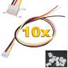 10 Set (20 Stück) 4Pin 2.0 PH 2.0mm Mini JST Stecker 15cm Kabel 28AWG + Buchse