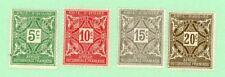 Ivory Coast 4 stamps,SC  J9 - J12, Postage Due, 1914, MPH