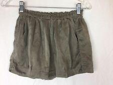 NEW Isabel Marant Rancho 100% Silk Shorts Brown Size 0 XS Pockets $329 MSRP