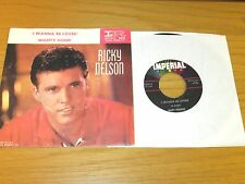 """RICKY NELSON PICTURE SLEEVE/45 RPM - IMPERIAL 5614 - """"MIGHTY GOOD"""""""
