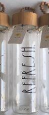 New Rae Dunn Glass Water Hydration Bottle Bamboo Lid Refresh Black Letter LL