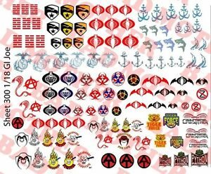 80 total US Flag Shoulder Patches 1//18 Scale Custom Waterslide Decals