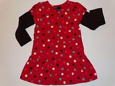 NWOT BABY GAP GIRLS POLKA DOT DRESS BRIGHT RUBY 2T 2 2 IN 1 LOOK CHELSEA LINE