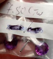 SPINEL/TANZANITE? GENUINE 7.80 CTW MATCHED BLUE PURPLE SET