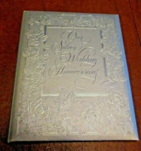 VINTAGE HALLMARK OUR SILVER WEDDING ANNIVERSARY*NEW*PADDED CO*1982*VERY RARE