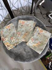 Pottery Barn Vanessa Green Floral Standard Pillow Sham Linen Blend (3)