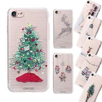 For Iphone 6s 7 Christmas Case Ultra Slim Thin Clear Tpu Silicon Soft Back Cover