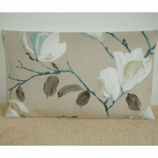 "20""x12"" Oblong Bolster Cushion Cover Duck Egg Blue Ivory Taupe Beige Magnolia"
