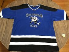 Vintage 1996 Looney Tunes Taz Ice Demons Large Hockey Jersey Shirt