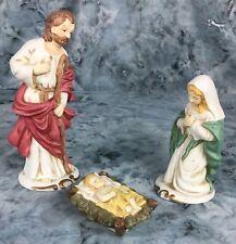 Christmas Nativity The Holly Family Joseph, Mary, Baby Jesus Porcelain #0014