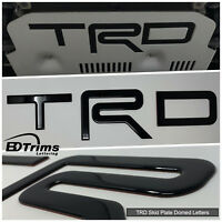 Black Domed 3D Raised Letters Inserts fits TRD Skid Plate 4Runner 2015-2018
