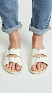 Soludos Women's Knotted Summer Slide Sandals *Ivory/Off White sizes: 5,6,7,8,9