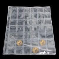 5Pcs 42 poches porte-Pièce de collection argent Pages d'album Case Plastique