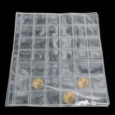 5Pcs 42 Pockets Coin Holders Storage Collection Money Album Pages Case Plastic