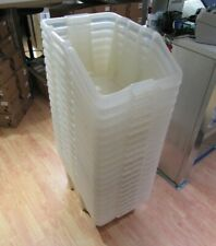 20 x Clear Plastic Tub Stackers Open Containers Storage Bins - LEATHERHEAD KT22