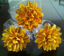 3 Yellow Mums Yucca Seed Pod Sunflower Long Stem Dried and Preserved Flowers