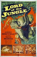 Lord of the jungle Johnny Sheffield Bomba movie poster