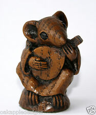 More details for church mouse playing mandolin reproduction carving musical collectable cute gift