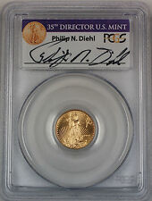 1999-W $5 American Gold Eagle, PCGS MS-69, Emergency Issue, Diehl signed!