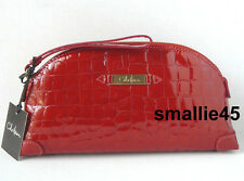 Cole Haan Large Spicy Orange Patent Croco Leather Wristlet/Clutch - NWT