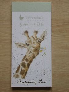 Beautiful WRENDALE Magnetic Shopping Pad - FLOWERS - GIRAFFE - NEW