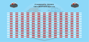 Conspicuity Stripe for 1:32 Scale Vehicles Red/White