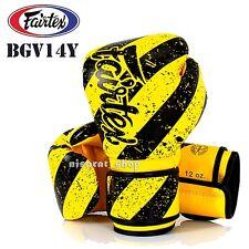 FAIRTEX BOXING GLOVES BGV14Y YELLOW 8,10,12,14,16 oz SPARRING MUAY THAI MMA K1